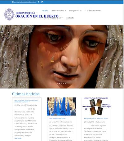 Hoy Miércoles Santo presentamos nuestra nueva web.