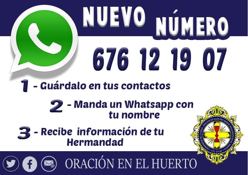 Nuevo número de WhatsApp